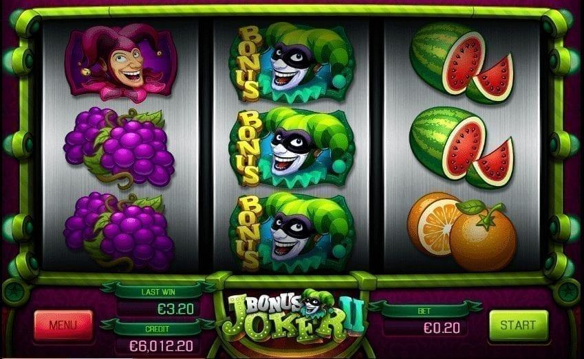 Hrací Automat Bonus Joker 2 Online Zdarma