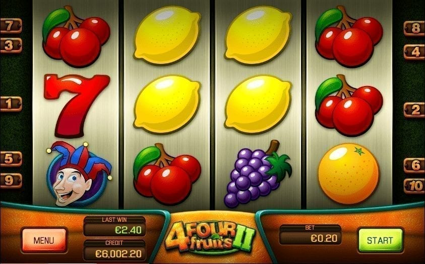 Four Fruits 2 Automat Online Zdarma